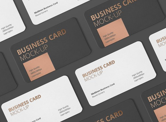 Business card mockup round corner product mockups creative market colourmoves