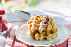 Delicious homemade waffles