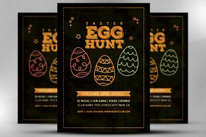 Vintage Easter Egg Hunt Flyer