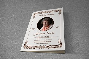 Funeral Program Template-T436