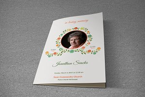 Funeral Program Template-T437