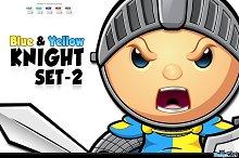 Blue & Yellow Knight - Set 2