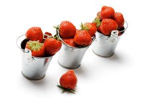 Three Buckets with Strawberry