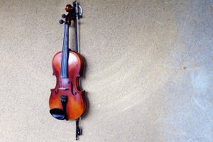 Violin on the wall