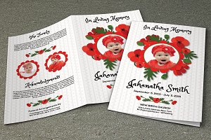 Child Funeral Program Template-V438