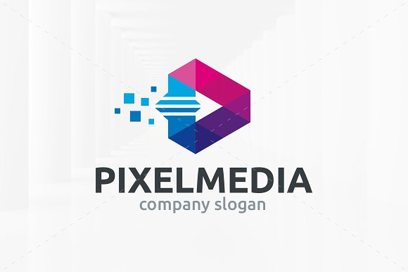Pixel Media Logo Template