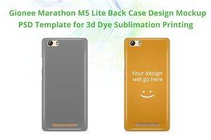 Gionee Marathon M5 lite 3d Case mock