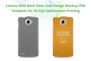 Lenovo S920 3d IMD Case Mock-up
