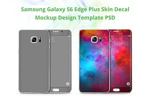 Galaxy S6 Edge Plus Skin Case Mockup