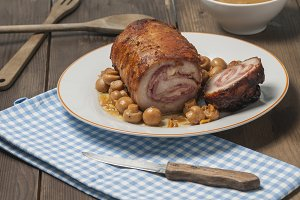Stuffed pork loin
