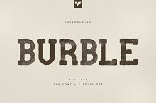 Burble VP Typeface - SVG font by  in Fonts