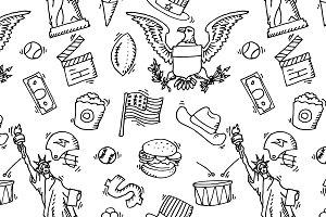 American Doodle set pattern