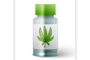 bottle with medical marijuana