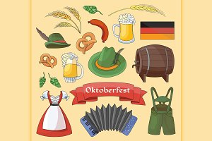 Oktoberfest. Germany elements