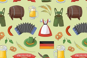 Oktoberfest pattern.