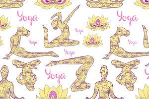 Yoga silhouette pattern