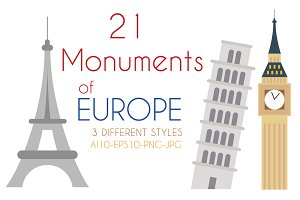 21x Monuments of Europe