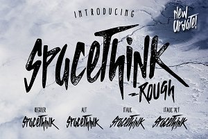 SPACETHINK Typeface - Discount 50%