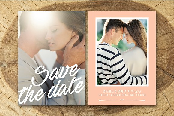 Save the Date Template Invitation Templates on Creative Market – Save the Date Template