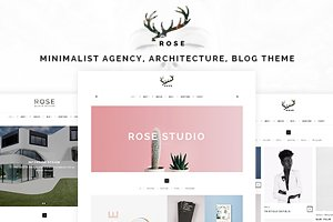 Rose - Minimalist Portfolio Template