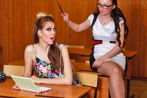 Teacher punishes student