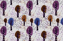 """Seamless pattern """"Forest"""""""