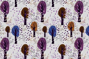 "Seamless pattern ""Forest"""