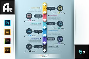 Modern Infographic Circle Timeline