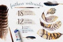 Watercolor BOHO feather DIY_5