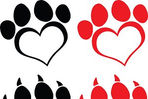 Love Paw Print Collection
