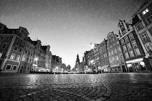 Wroclaw in black and white