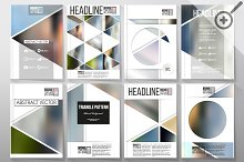 Blurred templates for brochures