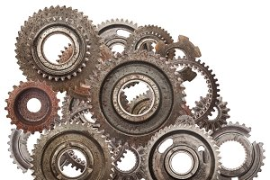 Cog wheels mechanism.