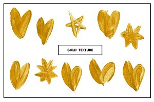Vector gold elements for design.