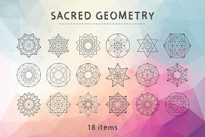 Vector Sacred Geometry 18 Items
