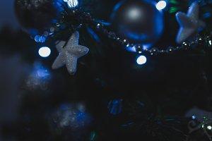 Stars on christmas tree