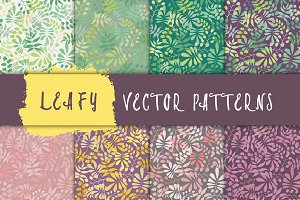 Vector Seamless Leaves Pattern