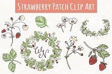 Strawberry Patch Clip Art & Vectors