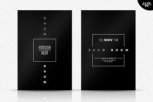 2in1 BLACK MINIMAL Flyer Template
