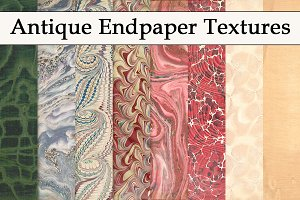 Antique Endpaper Textures