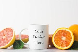 Mug Mockup with Citrus