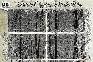 Artistic Clipping Masks Set 9