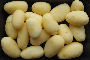 Potato vegetables in a tub