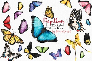 Butterfly - Watercolor Cliparts