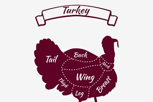 Farm Bird Silhouette Turkey Meat