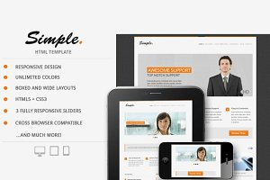 Simple Responsive HTML Template