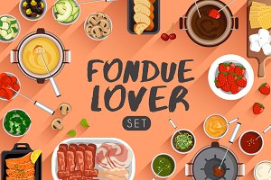 Big Set of Fondue
