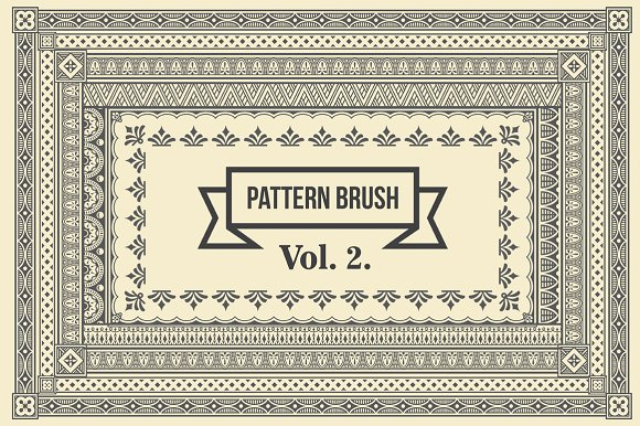 vintage borders pattern brushes 2 brushes creative market