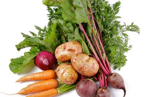 Raw Organic Vegetables