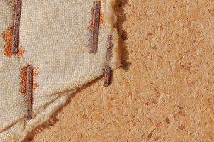 Brown burlap background